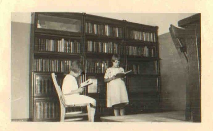 The interior of the Grosse Pointe Shores Library, circa 1930.